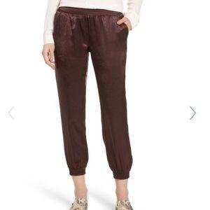 David Lerner Satin Plum dress pants